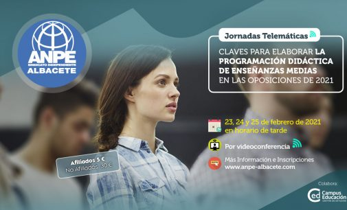 Jornadas Telemáticas: Claves para Elaborar la Programación Didáctica en Enseñanzas Medias en las Oposiciones de 2021